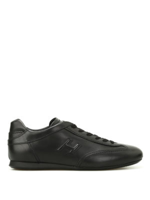 Hogan: trainers - Olympia black leather sneakers