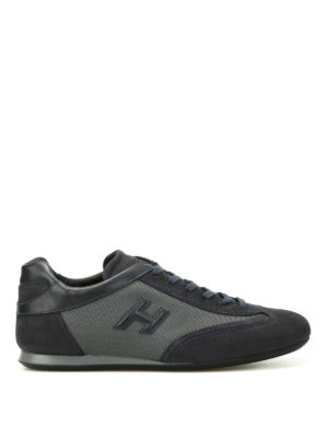 Hogan: trainers - Olympia blue nubuck sneakers