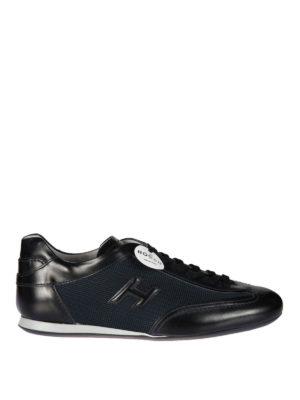 HOGAN: sneakers - Sneaker Olympia inserti in tessuto