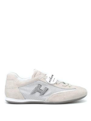 HOGAN: sneakers - Sneaker Olympia con H vellutata