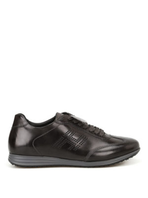 Hogan: trainers - Olympia H205 black leather sneakers
