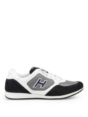 Hogan: trainers - Olympia H205 blue suede sneakers