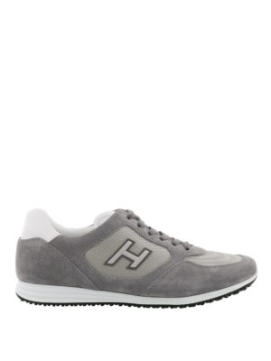 Hogan: trainers - Olympia H205 grey suede sneakers