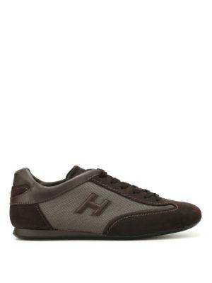 Hogan: trainers - Olympia Slash brown sneakers