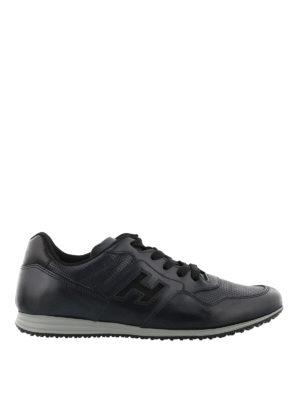 HOGAN: sneakers - Sneaker Olympia X-H205 blu nere