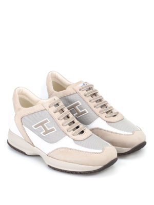 Hogan: trainers online - Beige New Interactive H Flock