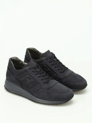Hogan: trainers online - Blue Interactive N20 nubuck sneaker