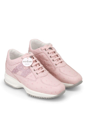 Hogan: trainers online - Crystal H pink leather Interactive