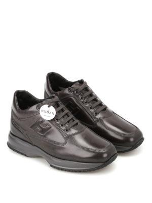 Hogan: trainers online - Dark grey leather Interactive
