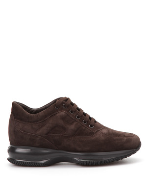 Hogan: trainers online - Embossed H suede trainers