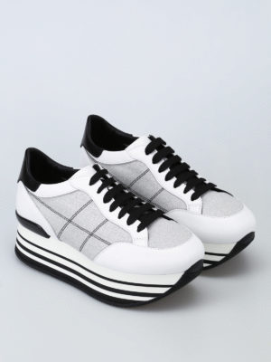 Hogan: trainers online - Fabric and leather Maxi H222