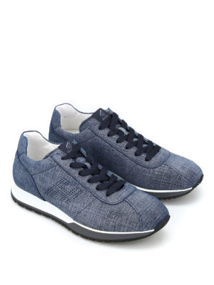Hogan: trainers online - Fabric effect leather sneakers