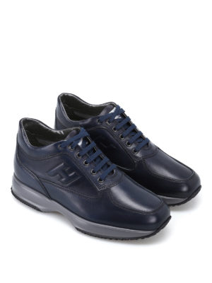 Hogan: trainers online - Glossy leather Summer Interactive