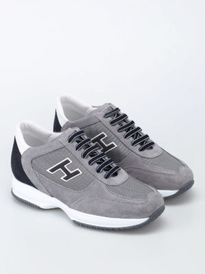 Hogan: trainers online - Grey New Interactive H Flock