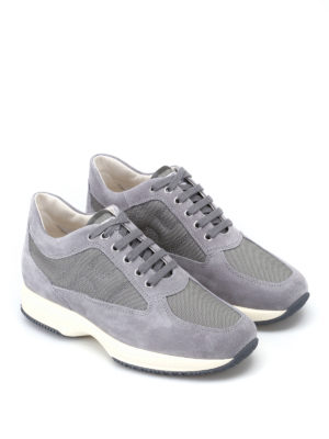Hogan: trainers online - Grey suede and fabric Interactive