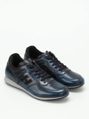 Hogan: trainers online - H205 Olympia blue leather sneakers