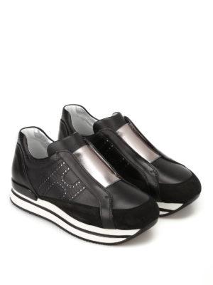 Hogan: trainers online - H222 black slip-ons