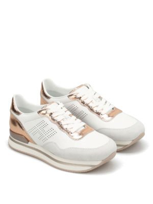 Hogan: trainers online - H222 drilled H leather sneakers