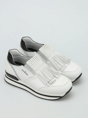 Hogan: trainers online - H222 fringed leather slip-ons