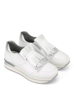 Hogan: trainers online - H222 fringed slip-on sneakers