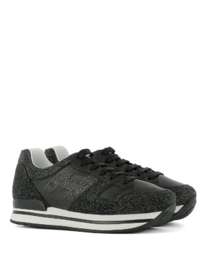 Hogan: trainers online - H222 glitter embellished sneakers
