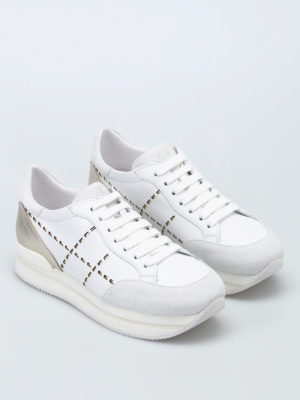 Hogan: trainers online - H222 lace-up leather sneakers