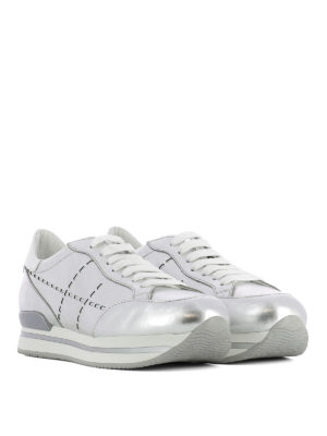 Hogan: trainers online - H222 laser H leather sneaker