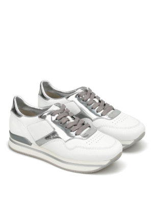 Hogan: trainers online - H222 leather and patent sneakers
