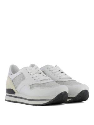 Hogan: trainers online - H222 lurex inserts leather sneaker
