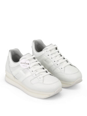 Hogan: trainers online - H222 patent leather detail sneakers