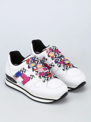 Hogan: trainers online - H222 patterned H and laces sneakers