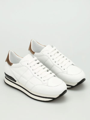 Hogan: trainers online - H222 quilted leather sneakers