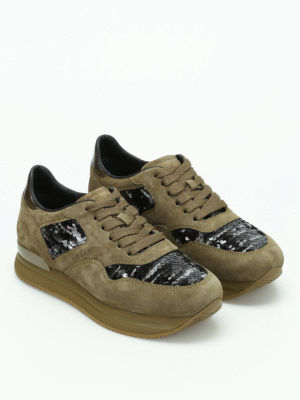 Hogan: trainers online - H222 sequined sneakers