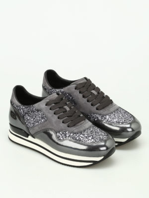 Hogan: trainers online - H222 sneakers with glitter inserts