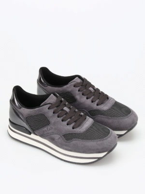 Hogan: trainers online - H222 suede and metallic sneakers