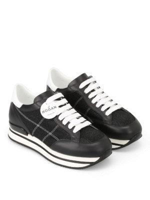 Hogan: trainers online - H222 tonal lurex inserts sneakers