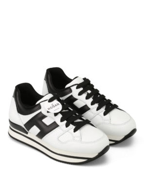 Hogan: trainers online - H222 two-tone leather sneakers