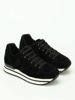 Hogan: trainers online - H222 velvet sneakers