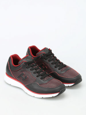 Hogan: trainers online - H254 drilled leather sneakers