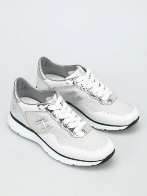Hogan: trainers online - H254 unlined shimmering sneakers