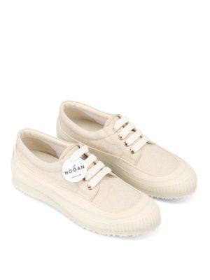 Hogan: trainers online - H258 lurex embellished sneakers