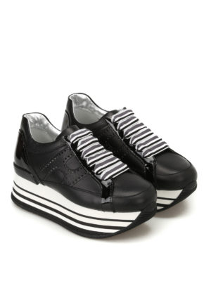 Hogan: trainers online - H283 embellished laces sneakers