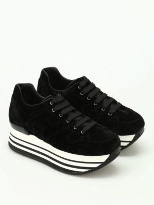 Hogan: trainers online - H283 maxi sole velvet sneakers