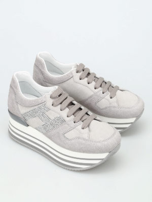 Hogan: trainers online - H283 sequined H maxi sneakers