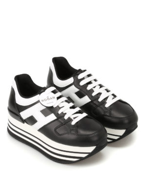 Hogan: trainers online - H283 two-tone leather sneakers
