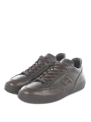 Hogan: trainers online - H302 mid top leather sneakers