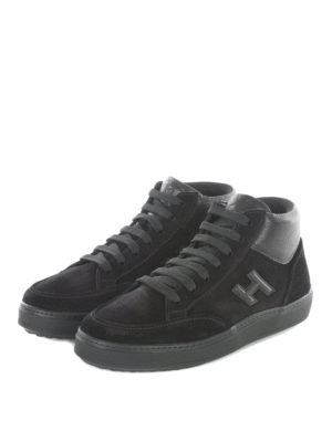 Hogan: trainers online - H302 mid top suede sneakers