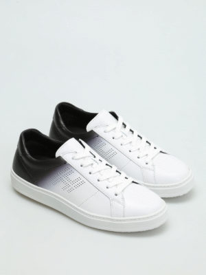 Hogan: trainers online - H302 shaded leather sneakers