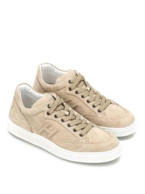 Hogan: trainers online - H302 suede sneakers