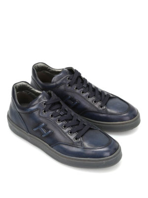 Hogan: trainers online - H320 Leather Mid Cut sneakers